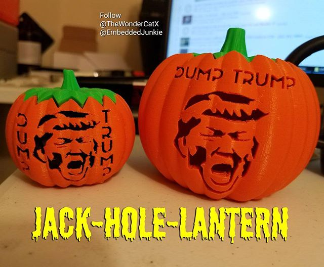 Jack-Hole-Lanterns, folks, it's gonna be huuuuge! It's gonna be grand! Simply the best, trust me. THIS HALLOWEEN IS RIGGED, I TELL YOU! Collab between @thewondercatx and @EmbeddedJunkie