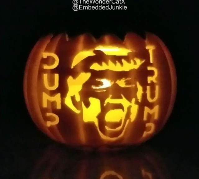 Trump Jack-Hole-Lantern. Collab between @thewondercatx and @EmbeddedJunkie