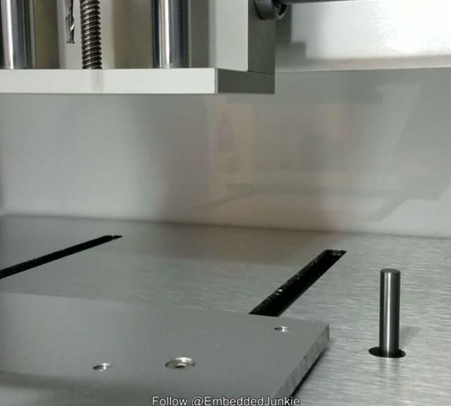 Measuring length of tooling bit. Desktop CNC mill Nomad 883 from Carbide3D