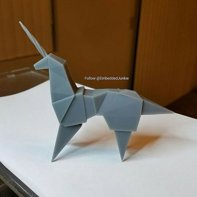 My 3d Printed Version Of The Unicorn Origami From The Film Blade